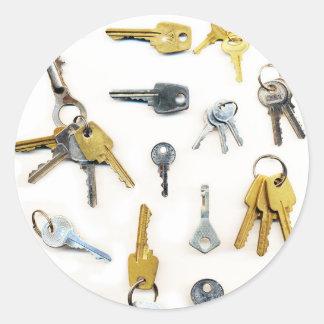 Keys Classic Round Sticker