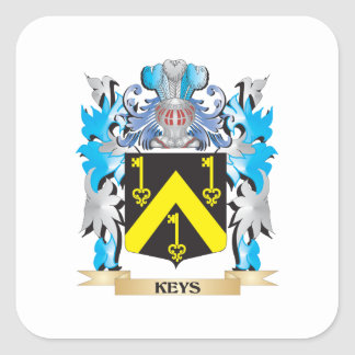 Keys Coat of Arms - Family Crest Stickers