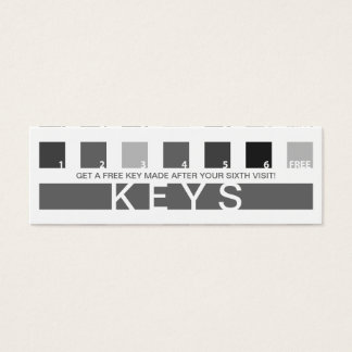 KEYS customer appreciation (mod squares) Mini Business Card