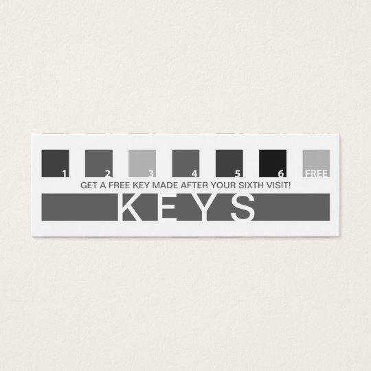 KEYS customer appreciation (mod squares) Mini Business Card