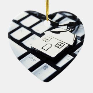 Keys for a new house ceramic heart decoration