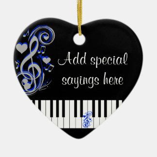 Key's Lof Love_ Ceramic Heart Decoration