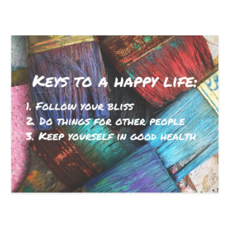 Keys to a Happy Life Postcard