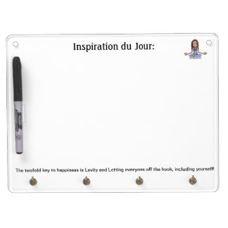 Keys to Happiness Dry-Erase Whiteboard