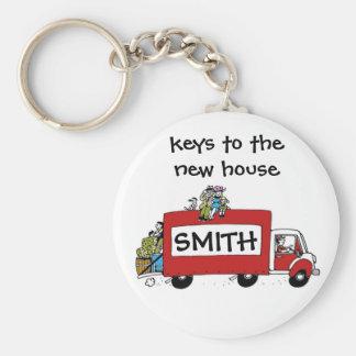keys to new house, garage, storage basic round button key ring