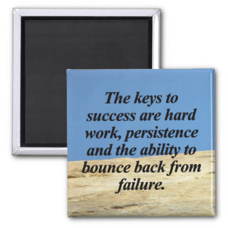 Keys to Success Square Magnet