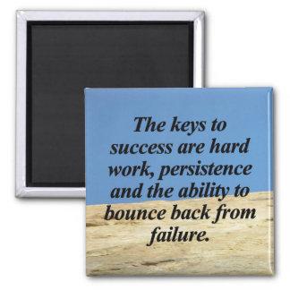 Keys to Success Square Magnet