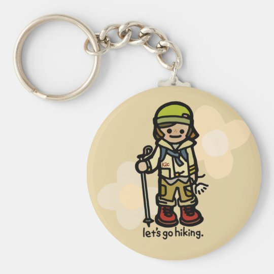 keys to the cabin. basic round button key ring