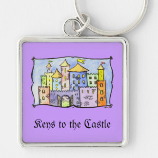 Keys to the Castle Silver-Colored Square Key Ring