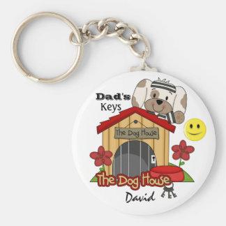 Keys to the Dog House - SRF Basic Round Button Key Ring