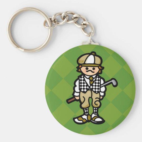 keys to the golf cart. basic round button key ring