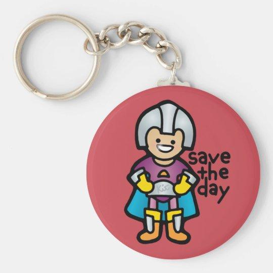 keys to the supermobile. basic round button key ring