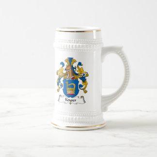 Keyser Family Crest Beer Steins