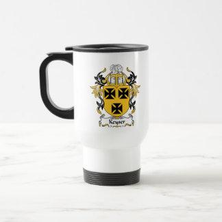 Keyser Family Crest 15 Oz Stainless Steel Travel Mug