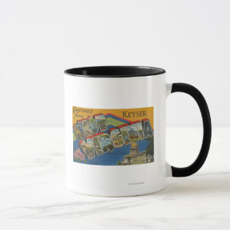 Keyser, West Virginia - Large Letter Scenes Mug