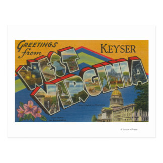 Keyser, West Virginia - Large Letter Scenes Postcard