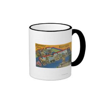 Keyser, West Virginia - Large Letter Scenes Ringer Mug