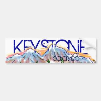 Keystone Colorado artistic mountain sticker Bumper Sticker