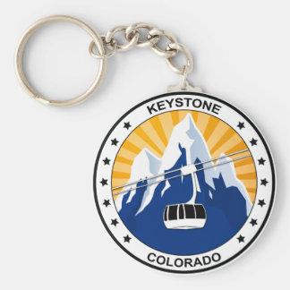 Keystone Colorado Basic Round Button Key Ring