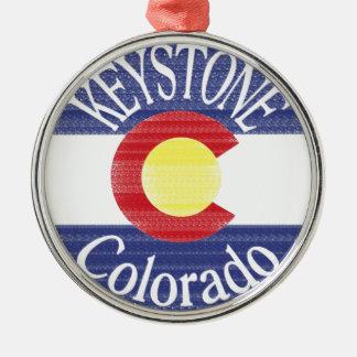 Keystone Colorado circle flag Christmas Ornament