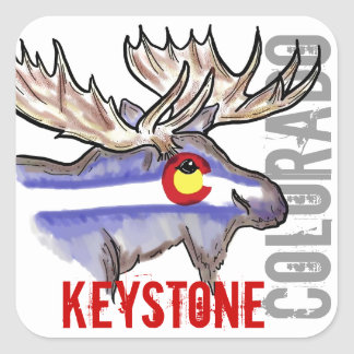 Keystone Colorado flag elk design stickers
