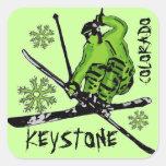 Keystone Colorado green theme ski stickers