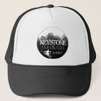 Keystone Colorado ski black white hat