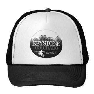 Keystone Colorado ski black white hat