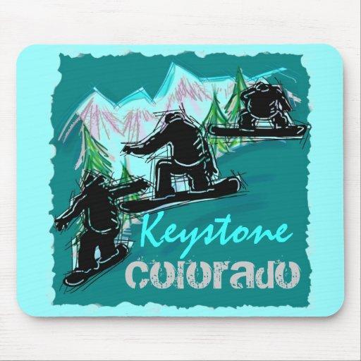 Keystone Colorado snowboard mousepad