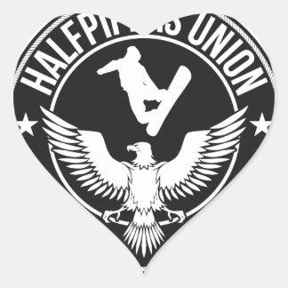 Keystone Halfpipers Union Heart Sticker