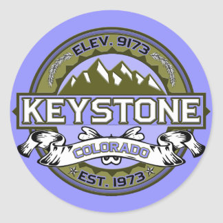 Keystone Logo Tan Sticker