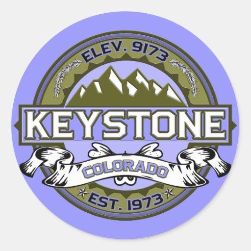 Keystone Logo Tan Sticker