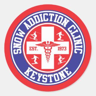 Keystone Snow Addiction Clinic Round Sticker