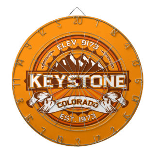 Keystone Tangerine Dartboard
