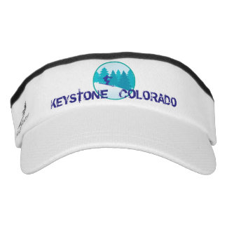 Keystone Teal Ski Circle Visor