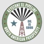 Keystone XL Pipeline Round Sticker