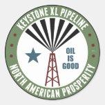 Keystone XL Pipeline Round Stickers