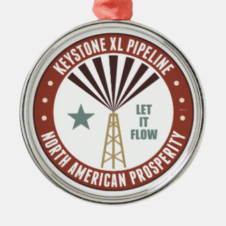 Keystone XL Pipeline Silver-Colored Round Decoration