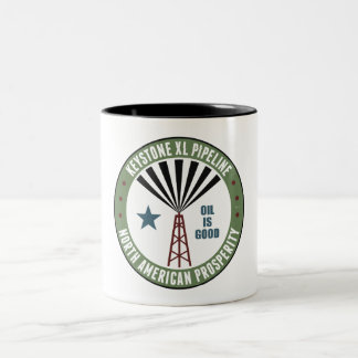 Keystone XL Pipeline Two-Tone Coffee Mug