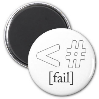 Keystroke (heart) Fail < # 6 Cm Round Magnet