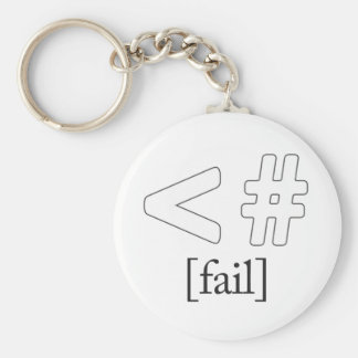 Keystroke (heart) Fail < # Basic Round Button Key Ring