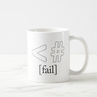 Keystroke (heart) Fail < # Basic White Mug
