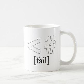 Keystroke (heart) Fail < # Basic White Mug