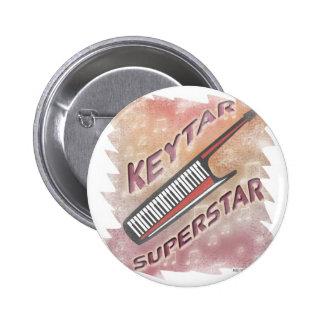 Keytar Superstar 6 Cm Round Badge