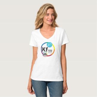 KFSSI Official Workshop logo on Women's V-neck T-Shirt