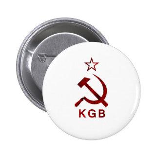 KGB Grunge 6 Cm Round Badge