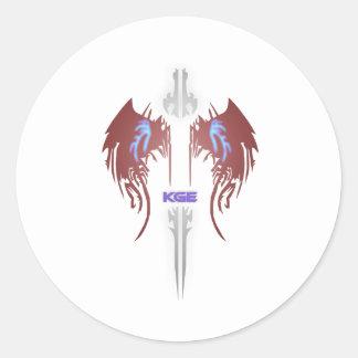 KGE Emblem Mini Classic Round Sticker