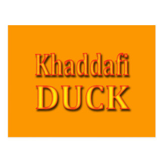 Khaddafi Duck Postcard