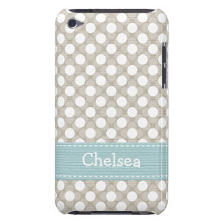 Khaki and Blue Polka Dot iPod Touch 4g Case Cover iPod Touch Cases
