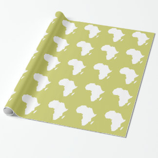 Khaki Audacious Africa Wrapping Paper
